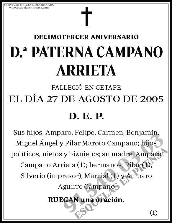 Paterna Campano Arrieta
